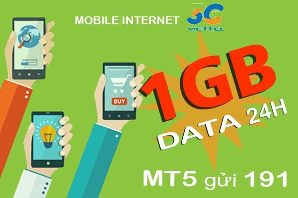 Cả ngày dùng mạng thả ga khi đăng ký gói 3G Viettel 1 ngày dưới 10k