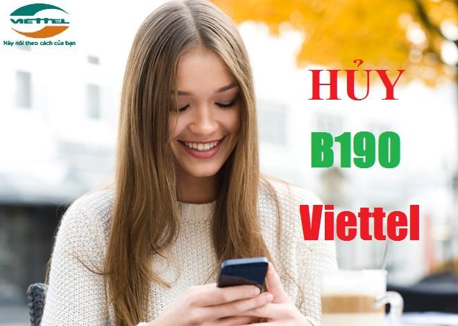 Chi tiết cách hủy gói cước B190 Viettel qua sms