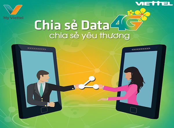 Hướng dẫn cách chia sẻ data 4G Viettel cho thuê bao nội mạng