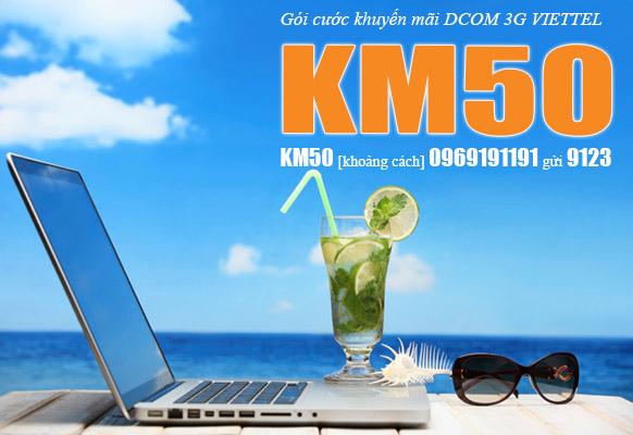 Bạn đã biết cách hủy nhanh gói KM50 trên sim Dcom Viettel chưa ?