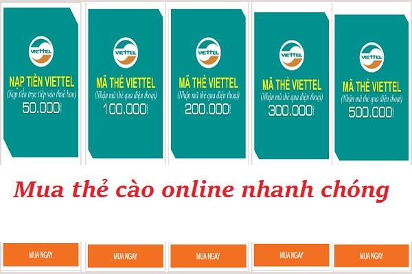 Địa chỉ mua mã thẻ Viettel online giá tốt nhất hiện nay