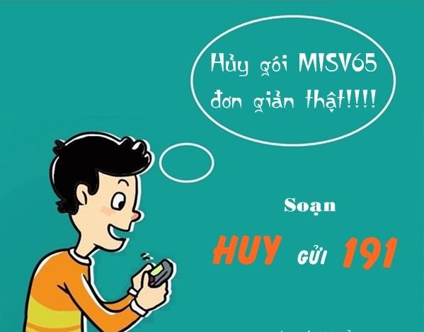 Cách hủy gói cước MISV65 của Viettel chi tiết nhất