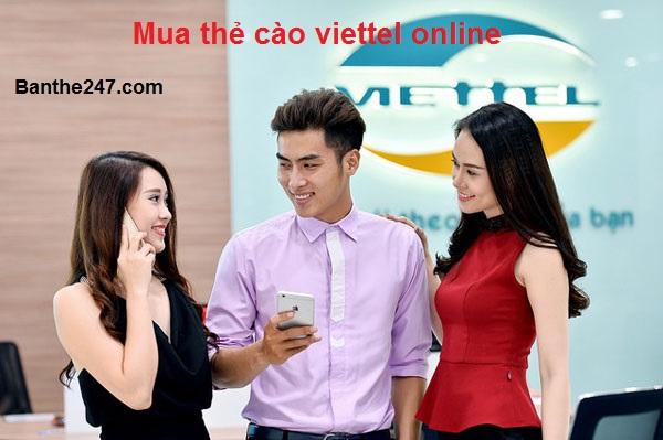 Hướng dẫn mua thẻ cào viettel online đơn giản