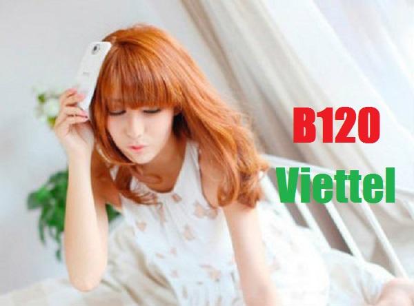 Cách nhận ưu đãi từ gói cước B120 Viettel