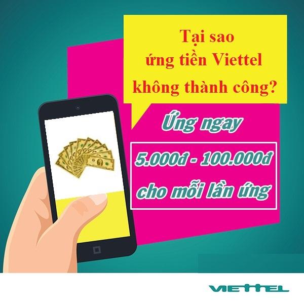 4 nguyên nhân ứng tiền Viettel không thành công