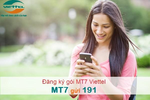 Làm sao để sử dụng gói MT7 viettel nhận ngay ưu đãi lớn nhất?