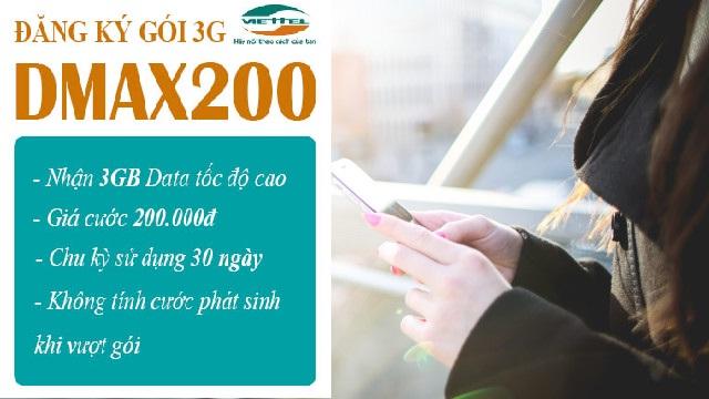 Cách đăng kí gói Dmax200 Viettel nhận ưu đãi lớn nhất