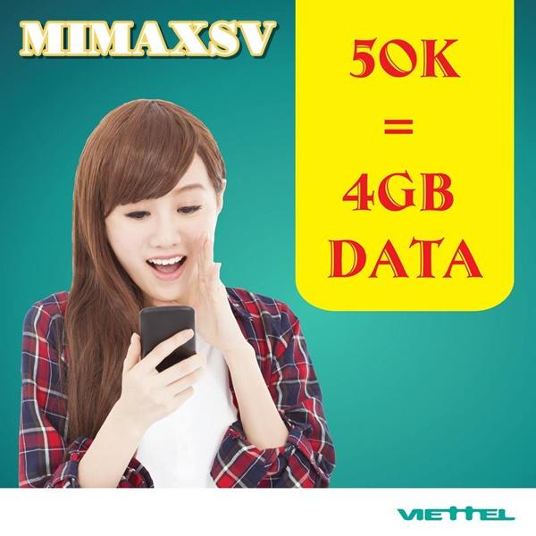 Bật mí cách đăng kí gói MIMAXSV Viettel 3G nhận ngay ưu đãi lớn nhất