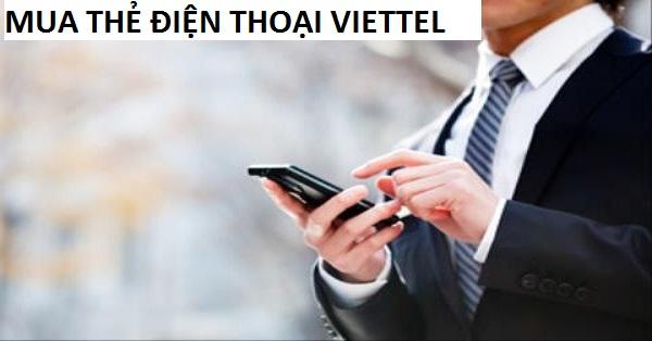 Chi tiết cách mua thẻ điện thoại viettel online