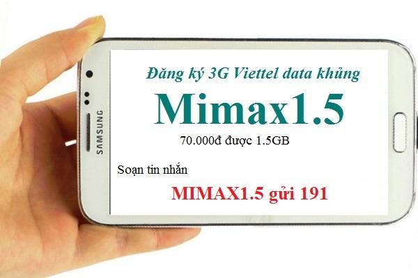 Cách đăng kí gói Mimax1.5 Viettel nhận ngay ưu đãi lớn nhất