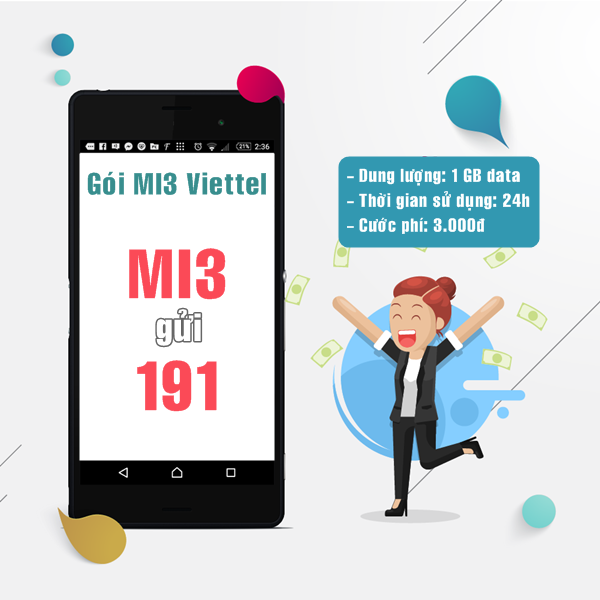 Hướng dẫn sử dụng gói Mi3 Viettel  hiệu quả nhất