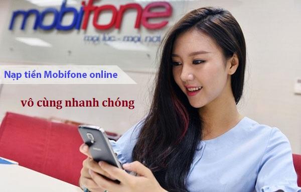 Nạp tiền điện thoại Mobifone 1 cách vô cùng nhanh chóng