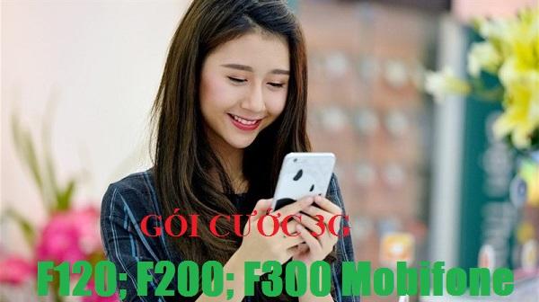 Thông tin chi tiết các gói 3G F120, F200, F300 Mobifone
