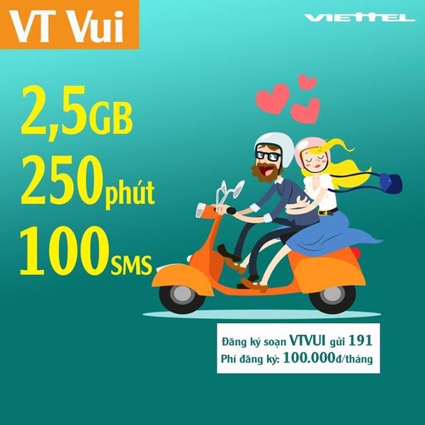 Chi tiết cách đăng kí gói VTVUI Viettel nhận ngay 2,5 GB data
