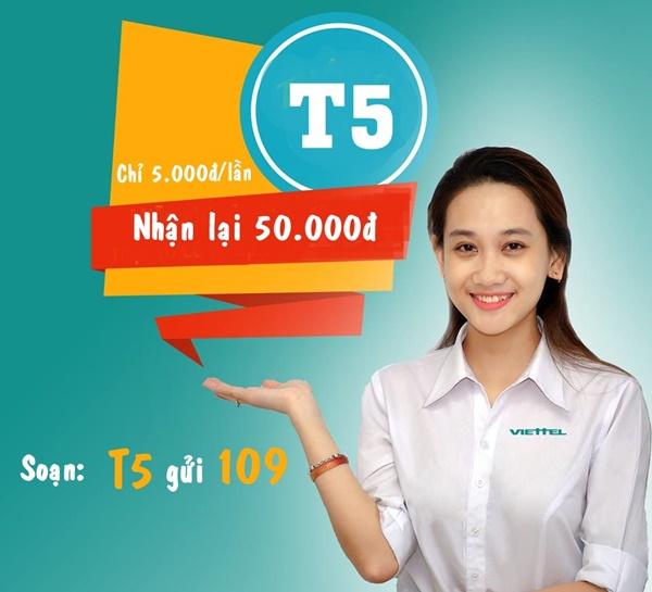 Đăng ký nhanh gói T5 Viettel nhận ngay ưu đãi lớn nhất hiện nay