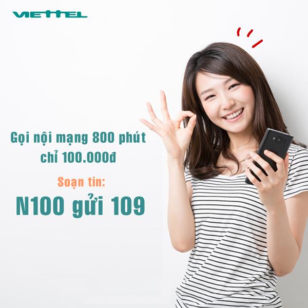 Đăng ký nhanh gói N100 Viettel nhận ngay ưu đãi lớn