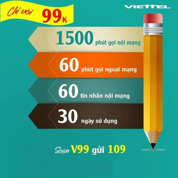 Cách đăng kí gói V99 Viettel nhận ngay ưu đãi lớn nhất