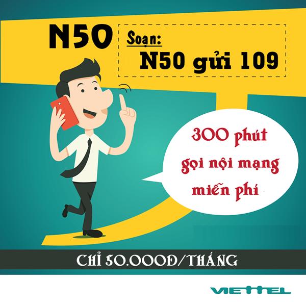 Đăng ký nhanh gói N50 Viettel nhận ngay ưu đãi hấp dẫn