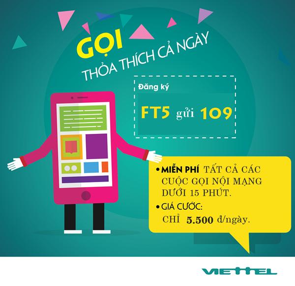 Học nhanh cách đăng kí gói FT5 Viettel  nhận ngay ưu đãi lớn nhất