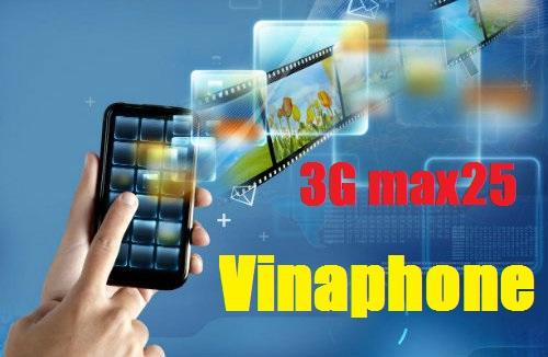 Cách nhận ưu đãi từ gói 3G Max25 Vinaphone