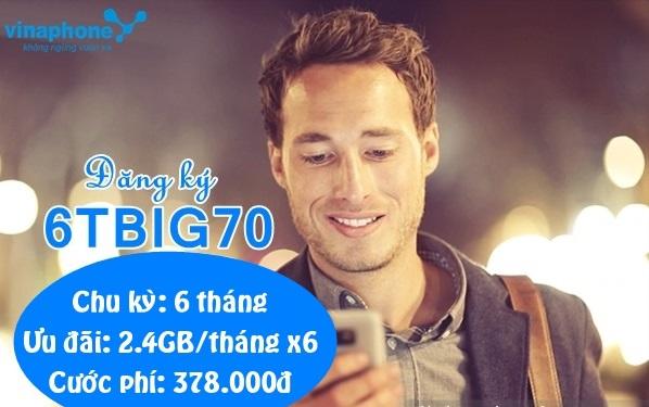 Bật mí cách nhận ưu đãi 14,4GB từ gói 6TBIG70 Vinaphone