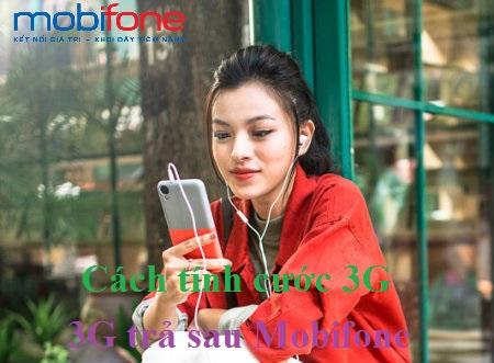 Chi tiết cách tính cước 3G trả sau Mobifone