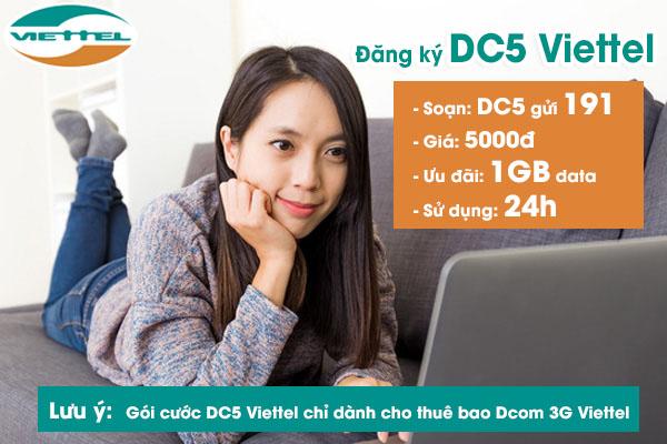 Toàn bộ thông tin về gói cước DC5 của Viettel