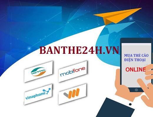 Hướng dẫn mua thẻ cào điện thoại nhanh chóng, giá rẻ tại Banthe24h.vn