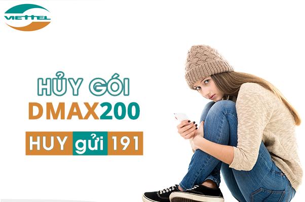 Chi tiết cách hủy nhanh gói Dmax200 Viettel qua tin nhắn