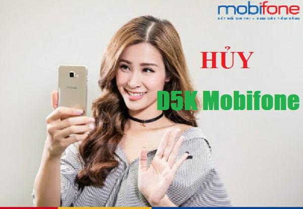 Cách hủy ưu đãi từ gói cước 3G 1 ngày D5K Mobifone