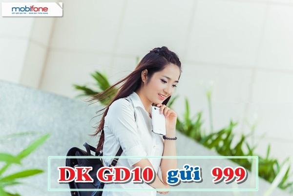 Cách đăng kí nhanh gói cước GD10 Mobifone nhận ngay