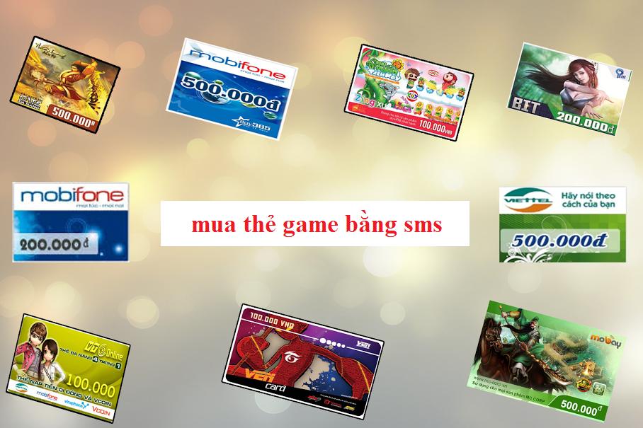Mua thẻ game bằng sms là gì?
