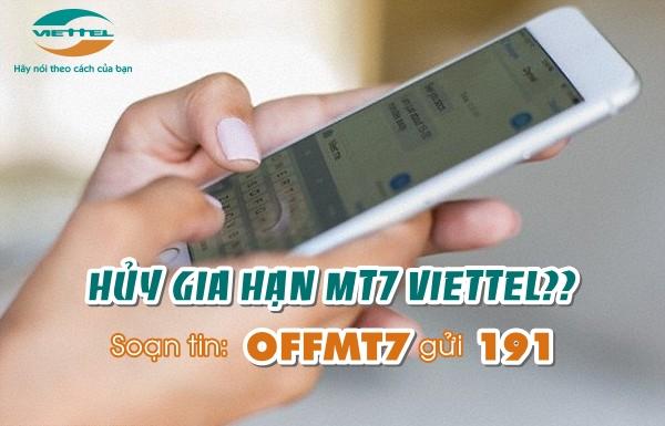 Hướng dẫn cách hủy gói MT7 Viettel chỉ với một tin nhắn