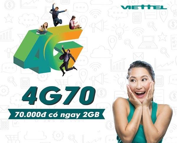 Làm sao để nhận ưu đãi 2GB data từ gói 4G70 Viettel