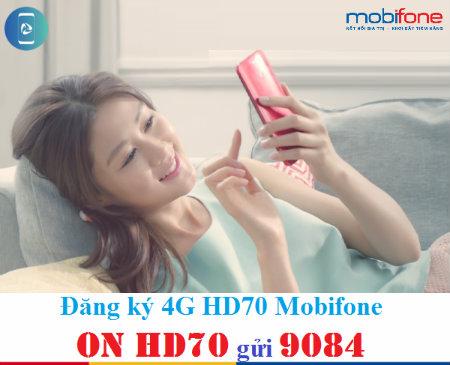 Đăng kí nhanh gói HD70 Mobifone nhận ngay ưu đãi lớn