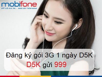 Hướng dẫn cách đăng kí gói cước 3G D5K mobifone nhận ngay ưu đãi lớn