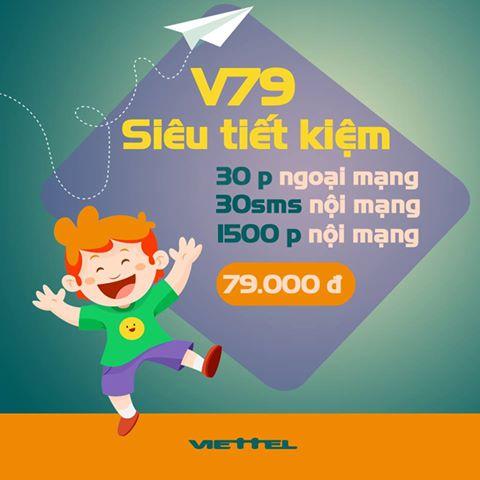 Đăng kí nhanh gói V79 Viettel nhận ngay ưu đãi lớn nhất
