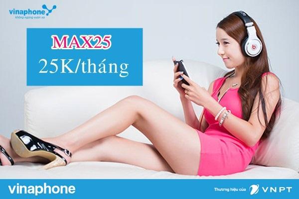 Đăng ký nhanh gói Max25 Vinaphone chỉ với 25.00VND