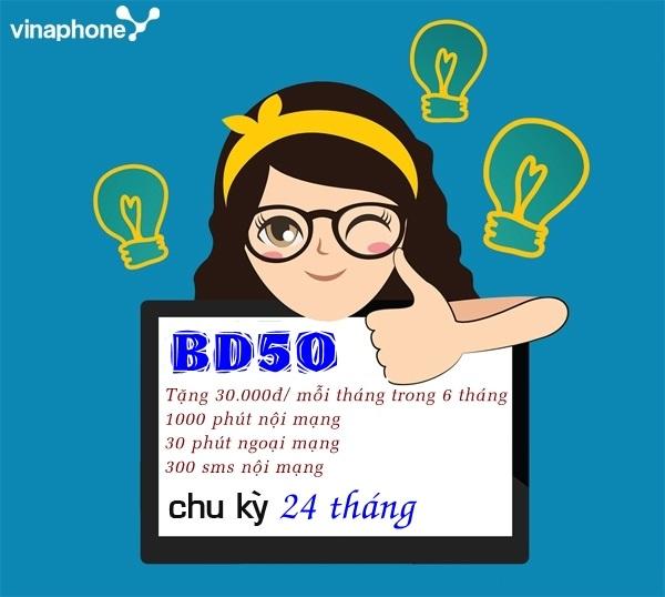 Bật mí cách đăng kí gói BD50 vinaphone nhận ngay ưu đãi lớn nhất