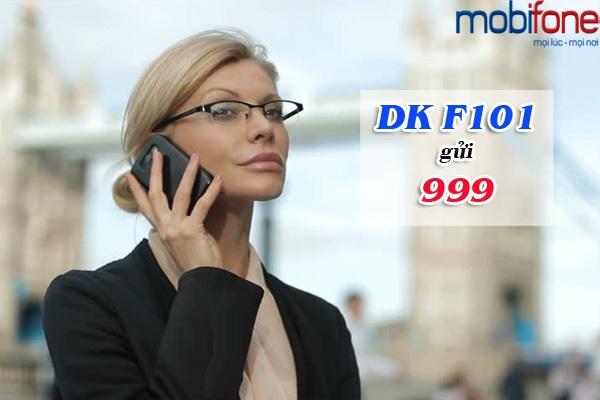 Đăng kí gói F101 Mobifone gọi 10 phút tính tiền 1 phút