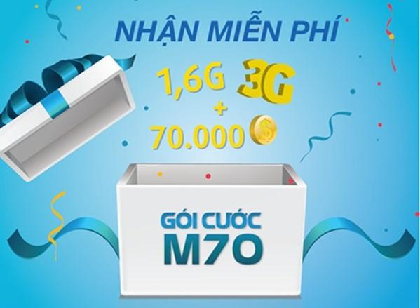 Làm sao nhận ưu đãi lớn từ gói M70 Vinaphone?