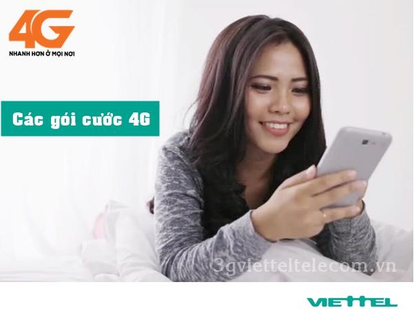 Danh sách tổng hợp các gói cước 4G của Viettel hấp dẫn nhất  năm 2018.