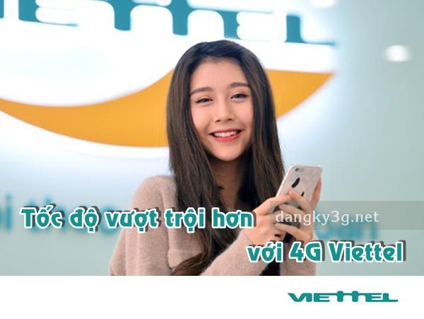Danh sách bảng giá các gói cước 4G Viettel hot nhất  năm 2018.
