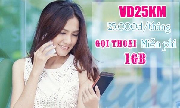 Cách đăng ký gói cước VD25KM Vinaphone qua tin nhắn