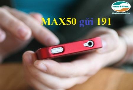 Hướng dẫn mua thêm 1.2GB data từ gói Max50 Viettel