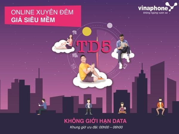 Hướng dẫn nhanh cách đăng  gói TD5 Vinaphone nhận ngay ưu đãi lớn nhất