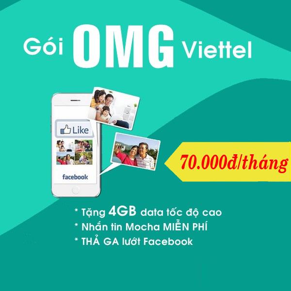 Hướng dẫn đăng kí gói OMG Viettel nhận ngay ưu đãi khủng nhất