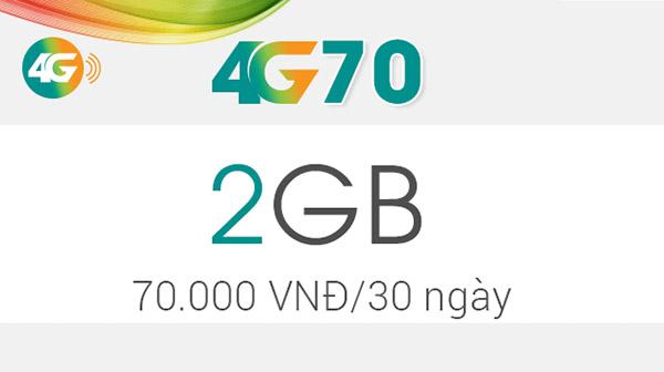 Hướng dẫn cách đăng kí gói 4G70 Viettel nhận ngay ưu đãi khủng
