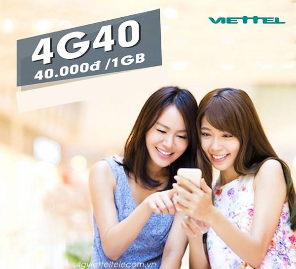 Hướng dẫn khách hàng nhận ưu đãi từ gói 4G40 Viettel nhanh nhất