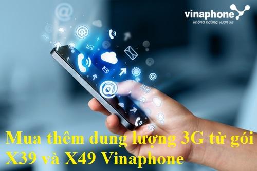Chi tiết cách mua thêm dung lượng 3G từ gói X39 và X49 Vinaphone
